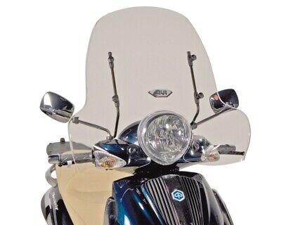 Windschild GiVi 43x70cm für Piaggio Beverly 500 03-08, Tourer 400 2008-