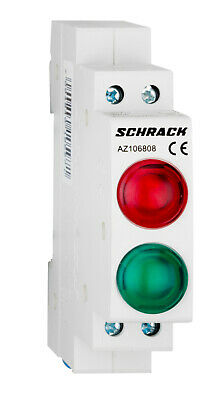 Modular LED indicator Double AMPARO Green/Red 230V AC - AZ106808