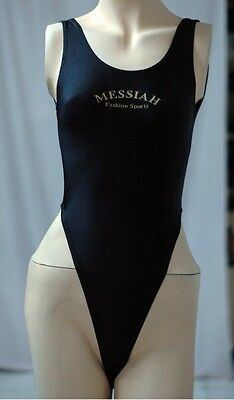 Black Spandex Thong Leotard for Women size 10 Small