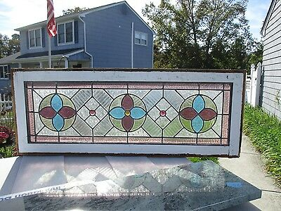 Stained Glass Side Lites With Transom Windows 5 Pc Set