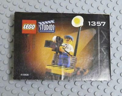 LEGO INSTRUCTIONS MANUAL BOOK ONLY 1357 Cameraman  x1PC