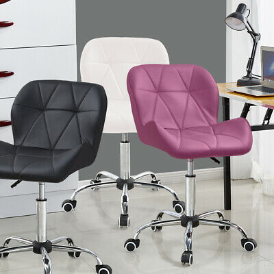 Swivel Furniture Computer Desk Office Study Chair PU Leather Adjustable Chair