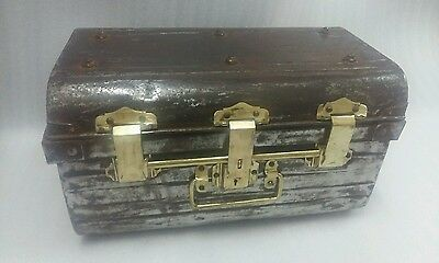 1950 Alfred hughes herrick work Wolverhampton England brass and tin trunks