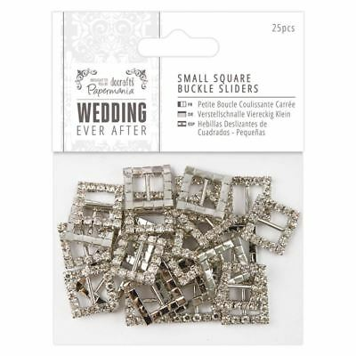 Docrafts Papermania Metal Charms SQUARE BUCKLES SLIDERS Schnallen,25 Stk,PMA1584