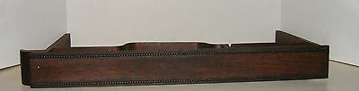 Antique Sewing Machine Slide Drawer, Beaded Trim, Off Old Treadle Machine #2