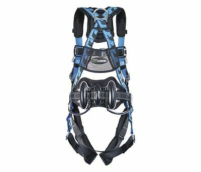 Miller AirCore Full Body Harness, S/M, 400 Lb Capacity, Back/Front/Side  D-Rings