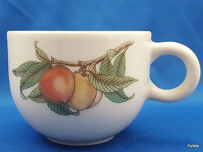 Epoch Wholesome Coffee Tea Cup Cream Stoneware Fruit and Leaves 8 Oz