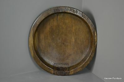 Large Rustic Indian Turned Wooden Bowl
