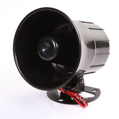 New 12V Siren Car Alarm Police Warning Fire Loud Horn Speaker Mic Black Alert
