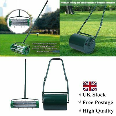 Garden Grass Lawn Rollers and Aerator Combine Perfect Lawns Water/Sand Filled UK