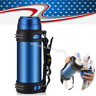 USA 2L large Capacity Outdoor Travel Vacuum Cup Bottle Water Flask Bottle Camp