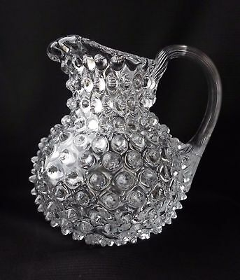 Beautiful Crystal Art Glass Jug Pitcher Czech Bohemian Handmade Original Design