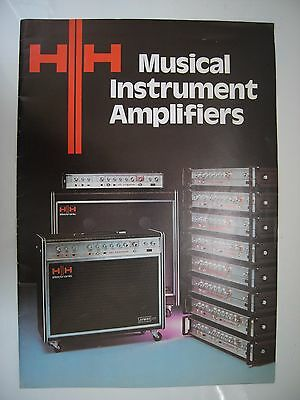 HH VINTAGE AMPLIFICATION BROCHURE 16x A4 PAGE FULLY ILLUSTRATED