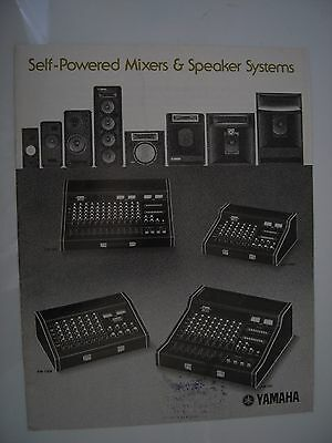 YAMAHA VINTAGE AMPLIFICATION BROCHURE & PRICE LIST 16x A4 PAGE ILLUSTRATED