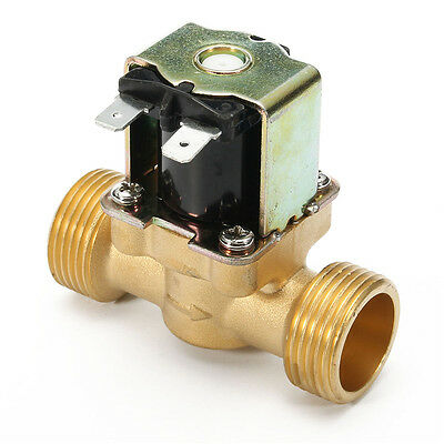3/4 inch 12V DC VDC Slim Brass Electric Solenoid Valve NPSM Gas Water Air