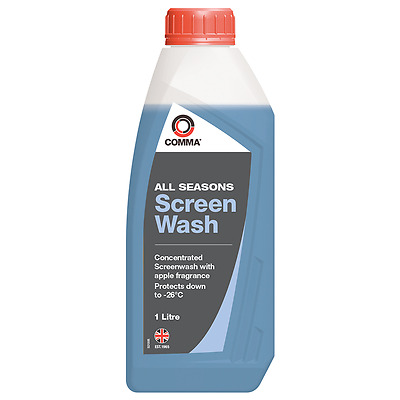 COMMA All Seasons Concentrated Screenwash 1L 1 LITRE Apple Car Wind Screen Wash