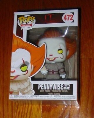 """Funko Pop! Movies #472 """"It"""" Pennywise (With Boat) Figure"""