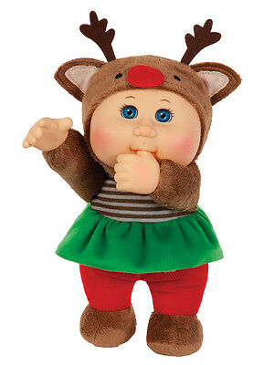 """Cabbage Patch Kids Cuties Doll: 9"""" Holiday Helpers Collection - Holly Reindeer"""