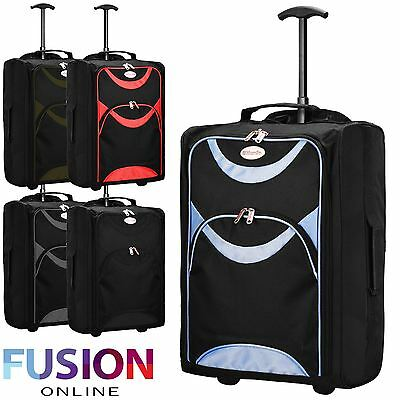 Approved Flight Cabin Bag Trolley Suitcase Luggage Case Ryanair Easyjet Flybe