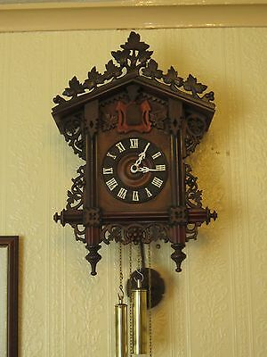 Antique Cuckoo Clock ,Bahnhausle, circa 1900