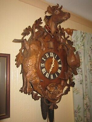 Antique Cuckoo Clock , by Gordian Hettich & Son, circa 1900