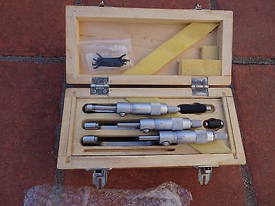 """Micrometer Set 0-3""""  .0001"""" -  Barely Used in Box"""