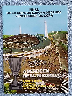 1983 - CUP WINNERS CUP FINAL PROGRAMME - ABERDEEN v REAL MADRID - MADRID ISSUE