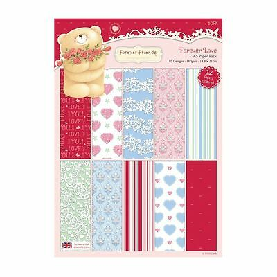 Docrafts ~ A4 Paper Pack 30 x160 gsm sheets ~ Forever friends Santas on his way