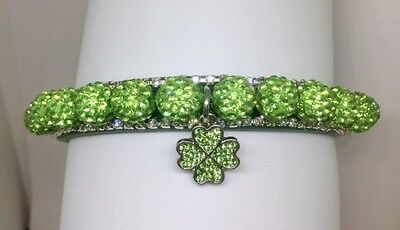 Cutie Pie Pet Collars~ Shamrock Irish Disco~Rhinestone Dog Cat Collar USA