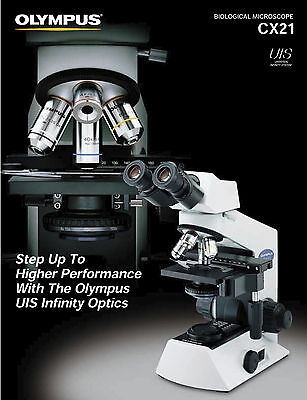 Olympus CX21 Microscope with 4x, 10x, 40x and 100x (NDA 100/1.30 Oil) Objectives