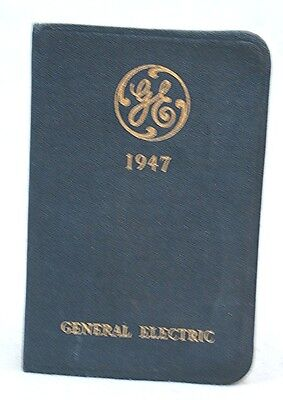 Vintage General Electric 1947 Diary