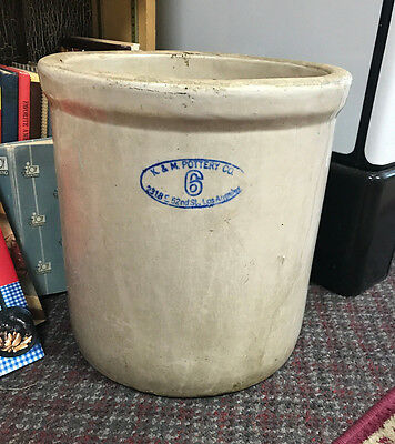 K&M Pottery Co Crock No.6