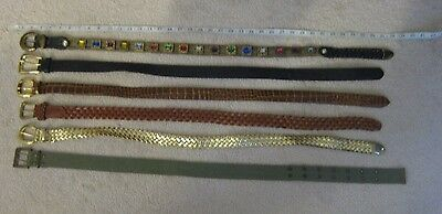 Women's Variety Lot of Various Brands & Beautiful Decorative Belts *Sz S/M & M*