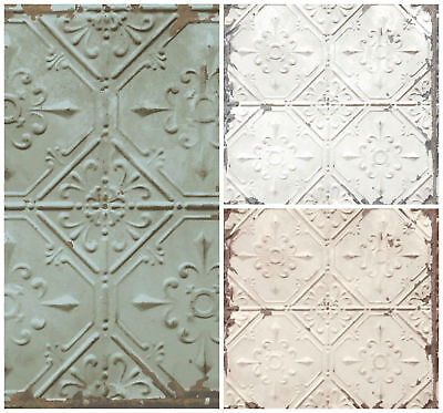 Tin Tile Wallpaper Urban Prints Metallic Metal Modern Fine Decor