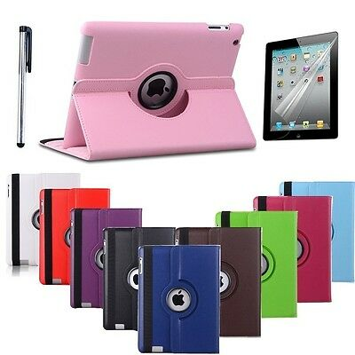 New iPad 5 6 2017 2018 9.7 Case Rotating Smart Cover A1822 A1823 A1893 A1954