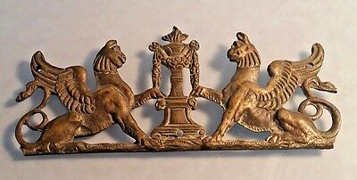 French Pair of Griffons in Bronze being heraldic furniture fitting Circa 1800