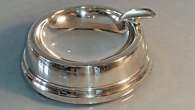 1961 Heavy 129 g substantial silver dished ashtray in excellent condition