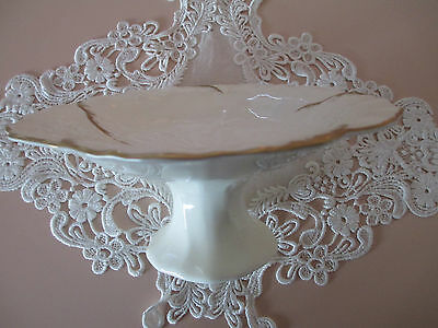 Ivory & 24 Karat Gold Bone China Cake/candy Stand By Mikasa, Japan