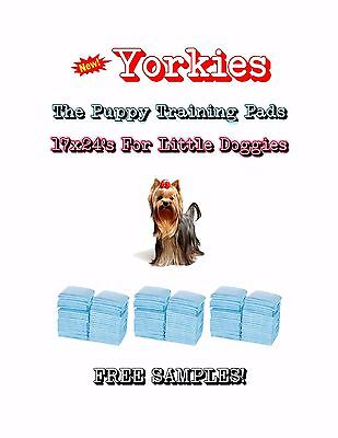 "300-17x24"" Yorkies the Lightweight Puppy Training Pads Made for Little Doggies"