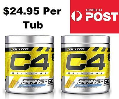 2 x Cellucor C4 Original GEN 5 Pre Workout Icy Blue Razz 30 Servings (60 TOTAL)
