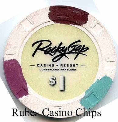 1.00 Chip from the Rocky Gap Casino in Cumberland Maryland