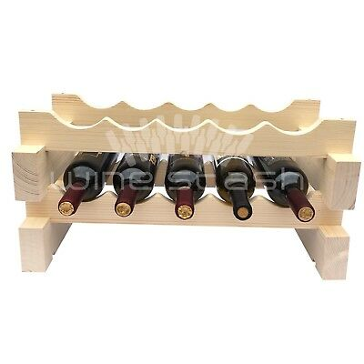 10 Bottle Modular Wine Rack - Stackable - Wine Stash - Free Shipping Aus Wide