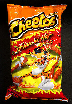 Cheetos Crunchy Flaming Hot 226.8g Bag Flamin' Hot ..