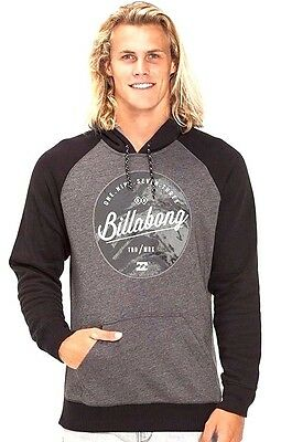 Mens Billabong Rounder Grey Pullover Hoodie / Jumper - Size L. NWT, RRP $69.99