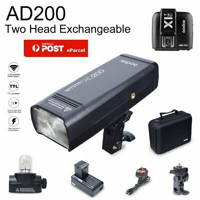 AU Godox AD200 200W 2.4G TTL HSS Pocket Flash Speedlite +X1T-C Trigger For Canon