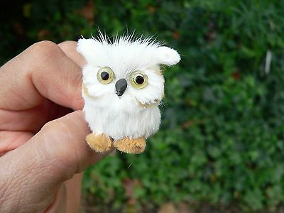 miniature Owl Furry Animal Ooak Fairy Tree Prop * Baby Shower * Gift for Her *