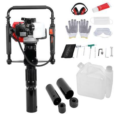 33CC Gas Powered Post Driver 2 Stroke 1.2HP Engine T-Post Push Pile Driver Tool