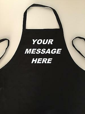Fathers Day Personalised Adult Apron - Heat Treated Smooth Or Glitter Vinyl