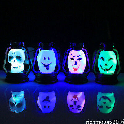 Halloween Scary Hanging Lamp Flash Skull Grimace LED Lantern Night Light Lamp X