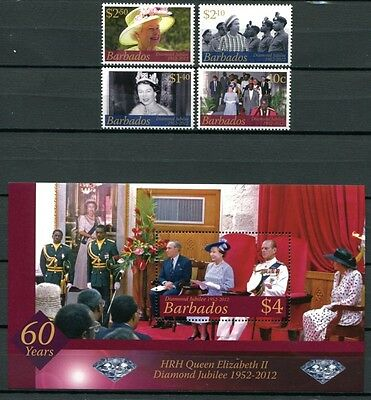 BARBADOS 2012 QE II Königin Elisabeth Royalty Thronjubiläum ** MNH